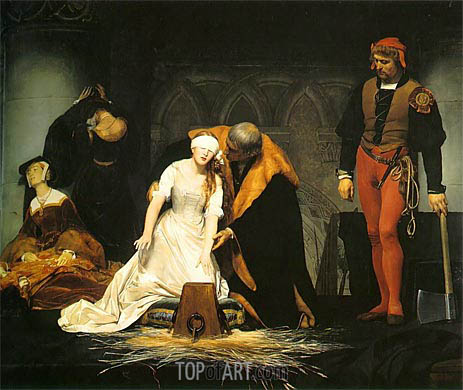 Paul Delaroche | The Execution of Lady Jane Grey, 1833