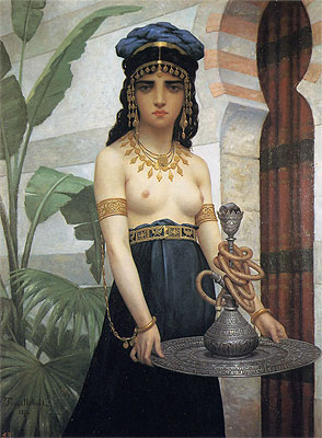 The Harem Servant Girl, 1874 | Paul Desire Trouillebert | Painting Reproduction