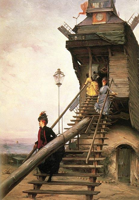 Moulin de la Galette, 1887 | Quinsac | Painting Reproduction