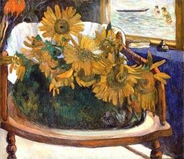 Still Life with Sunflowers on an Armchair, 1901 von Gauguin | Gemälde-Reproduktion