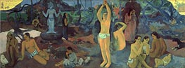 Where do We Come From. What are We Doing. Where Are We Going., 1897 von Gauguin | Gemälde-Reproduktion