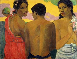 Three Tahatians | Gauguin | Painting Reproduction