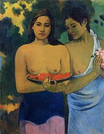 Two Tahitian Women | Gauguin | Painting Reproduction