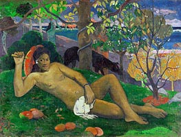 Te Arii Vahine (The King's Wife) | Gauguin | Gemälde Reproduktion