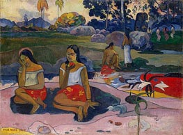 Sacred Spring: Sweet Dreams (Nave nave moe), 1894 by Gauguin | Painting Reproduction