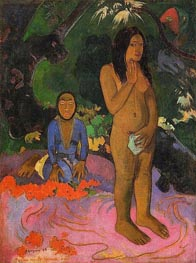 Parau na te varua ino (Words of the Devil) | Gauguin | Painting Reproduction