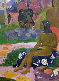 Vairaumati Tei Oa (Her Name is Vairaumati), 1892 von Gauguin | Gemälde-Reproduktion