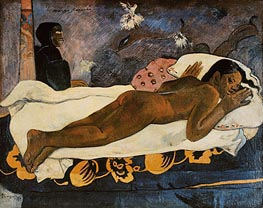 Manao Tupapau (Spirit of the Dead Watching), 1892 by Gauguin | Painting Reproduction