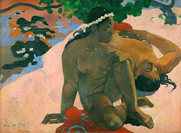 Aha oe Feii (What Are You Jealous), 1892 by Gauguin | Painting Reproduction