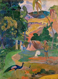 Matamoe (Landscape with Peacocks), 1892 by Gauguin | Painting Reproduction