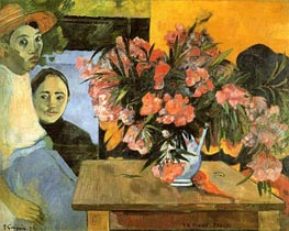 Te Tiare Arani (Flowers of France), 1891 by Gauguin | Painting Reproduction