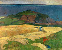 Seaside Harvest, Le Pouldu, 1890 by Gauguin | Painting Reproduction