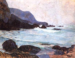 The Coast of Bellangenay, c.1890 by Gauguin | Painting Reproduction