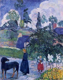 Among the Lilies, 1889 by Gauguin | Painting Reproduction
