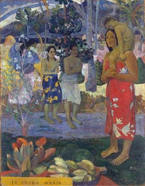 Ia Orana Maria (Hail Mary), 1891 by Gauguin | Painting Reproduction