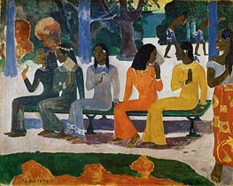 Ta Matete (We Shall Not Go to Market Today), 1892 by Gauguin | Painting Reproduction
