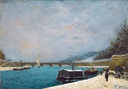 The Seine near the Pont de Jena, 1875 by Gauguin | Painting Reproduction