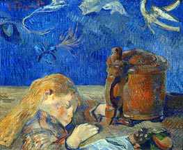 The Sleeping Child, 1884 by Gauguin | Painting Reproduction
