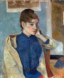Portrait of Madeleine Bernard, 1888 by Gauguin | Painting Reproduction