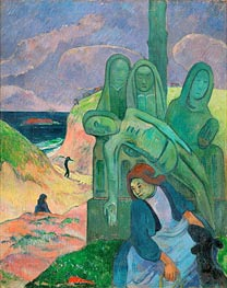 Green Christ, 1889 by Gauguin | Painting Reproduction