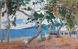 Seashore (Island of Martinique), 1887 by Gauguin | Painting Reproduction