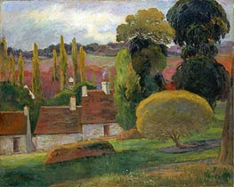 A Farm in Brittany, 1894 by Gauguin | Painting Reproduction