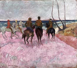 Riders on the Beach, 1902 by Gauguin | Painting Reproduction