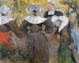 Four Breton Women, 1886 by Gauguin | Painting Reproduction