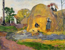 Yellow Haystacks (Blond Harvest), 1889 by Gauguin | Painting Reproduction