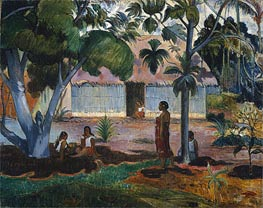 The Large Tree (Te raau rahi), 1891 by Gauguin | Painting Reproduction