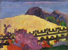 The Sacred Mountain (Parahi Te Marae), 1892 by Gauguin | Painting Reproduction