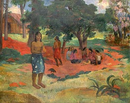 Parau Parau (Whispered Words), 1892 by Gauguin | Painting Reproduction