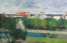 The Market Gardens of Vaugirard, 1879 by Gauguin | Painting Reproduction