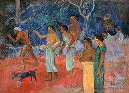 Scene from Tahitian Life, 1896 by Gauguin | Painting Reproduction