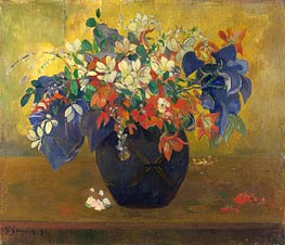 A Vase of Flowers, 1896 by Gauguin | Painting Reproduction