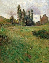 Dogs Running in a Meadow, 1888 by Gauguin | Painting Reproduction
