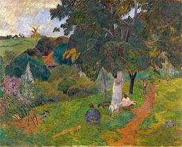 Coming and Going, Martinique, 1887 by Gauguin | Painting Reproduction