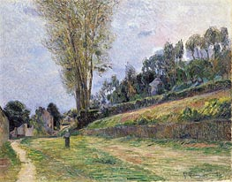 An Orchard under the Church of Bihorel, 1884 by Gauguin | Painting Reproduction