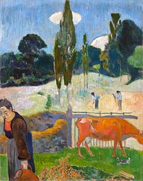 The Red Cow, 1889 by Gauguin | Painting Reproduction