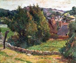 Landscape on the Pont-Aven, 1886 von Gauguin | Gemälde-Reproduktion