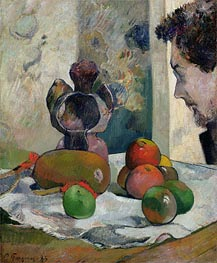 Still Life with Profile of Laval, 1886 by Gauguin | Painting Reproduction