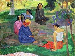 Les Parau Parau (The Gossipers), 1891 von Gauguin | Gemälde-Reproduktion