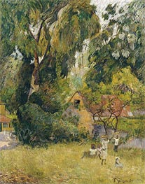 Huts under the Trees, 1887 by Gauguin | Painting Reproduction