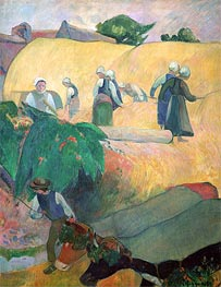 Haymaking, 1889 by Gauguin | Painting Reproduction