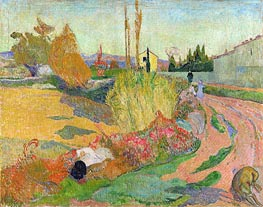 Landscape at Arles, 1888 by Gauguin | Painting Reproduction