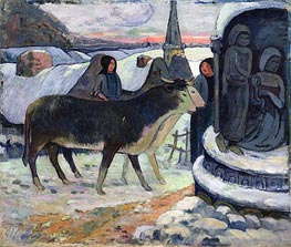 Christmas Night (The Blessing of the Oxen), c.1902/03 by Gauguin | Painting Reproduction