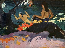 Fatata te Miti (By the Sea), 1892 by Gauguin | Painting Reproduction
