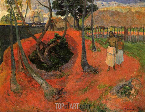 Idyll in Tahiti, 1901 | Gauguin | Painting Reproduction