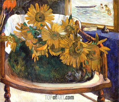 Still Life with Sunflowers on an Armchair, 1901 | Gauguin | Painting Reproduction