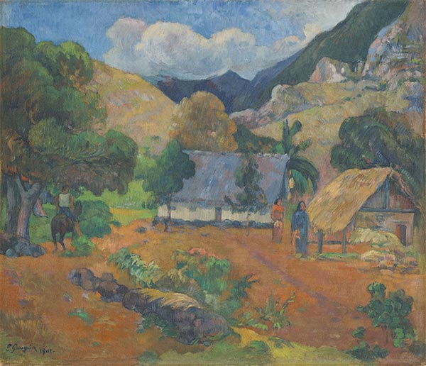 Landscape with Three Figures, 1901 | Gauguin | Painting Reproduction